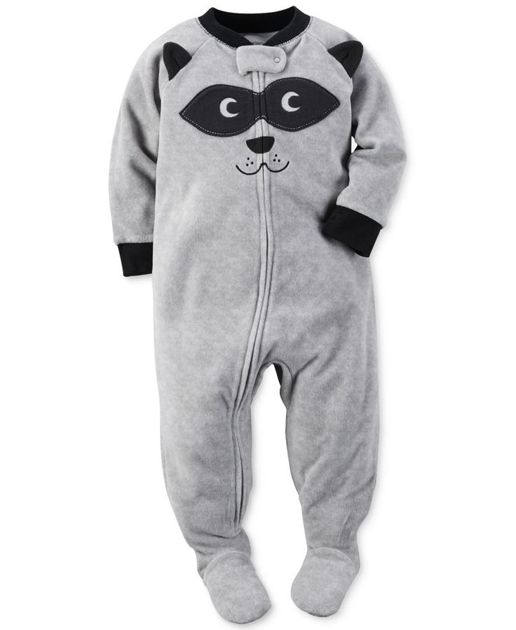 Carter S Baby Boys 1 Pc Raccoon Footed Pajamas