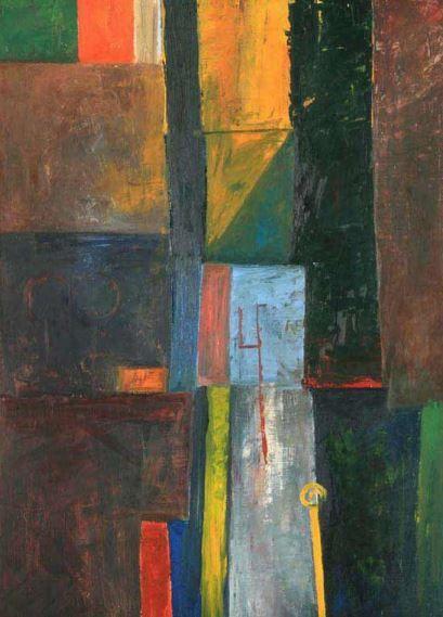 Balcar Jiří - Composition (1958) #painting #Czechia #art