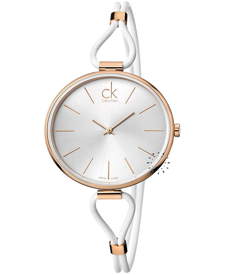 CALVIN KLEIN Selection White Leather Strap Τιμή: 267€ http://www.oroloi.gr/product_info.php?products_id=34678