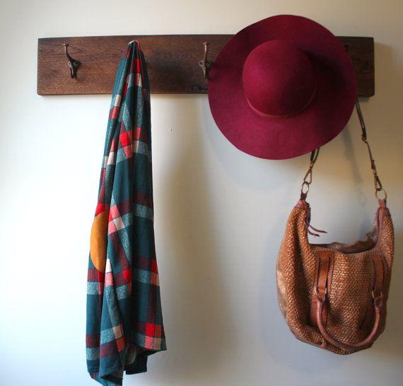 reclaimed barn lumber coat rack by on etsy