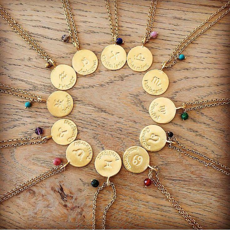 jodiac circle silver gold plated semi precious stones #jodiaccircle #antoniakarra