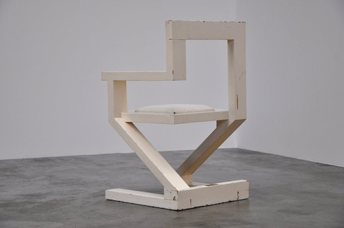 beechwood and laquer chair by John Striegel, 1983