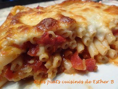 Les plats cuisinés de Esther B: Macaroni long aux tomates