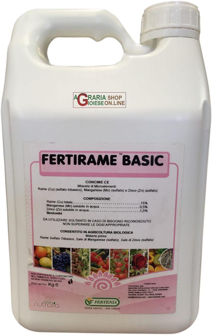 FERTENIA FERTIRAME BASIC CONCIME FOGLIARE A BASE DI RAME MANGANESE E ZINCO KG. 6 http://www.decariashop.it/concimi-fogliari/6076-fertenia-fertirame-basic-concime-fogliare-a-base-di-rame-manganese-e-zinco-kg-6.html
