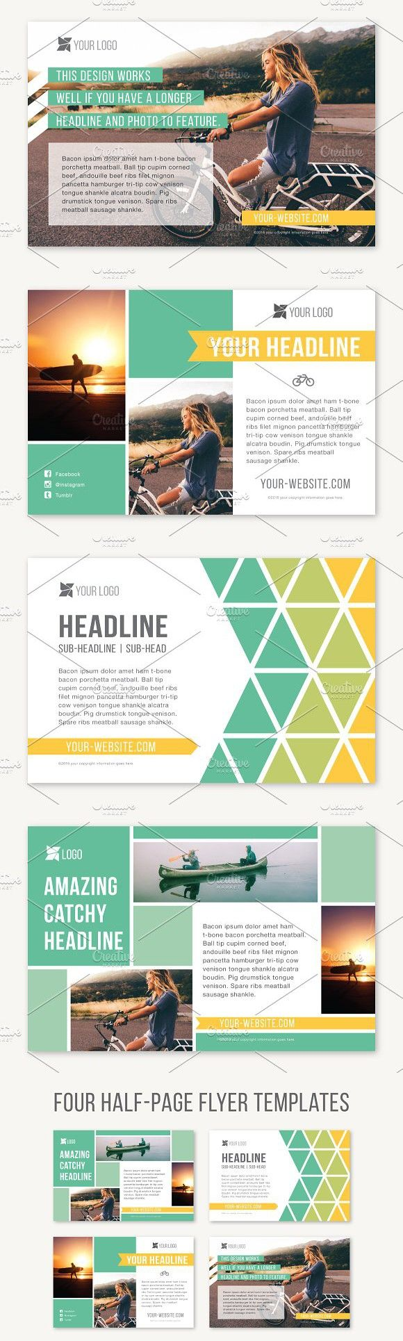 Four Half Page Flyer Templates Flyer Templates Flyer Template