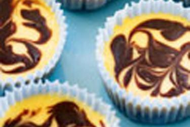 Little chocolate swirl cheesecakes recipe, NZ Woman's Weekly – visit Food Hub for New Zealand recipes using local ingredients – foodhub.co.nz