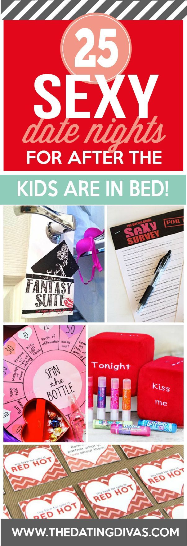 Put the kids to bed - it is mommy and daddy time! Some sexy bedroom games for after the kids are in bed! www.TheDatingDivas.com