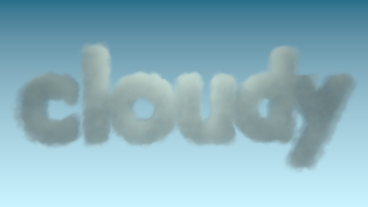 Fluffy cloud #typography.