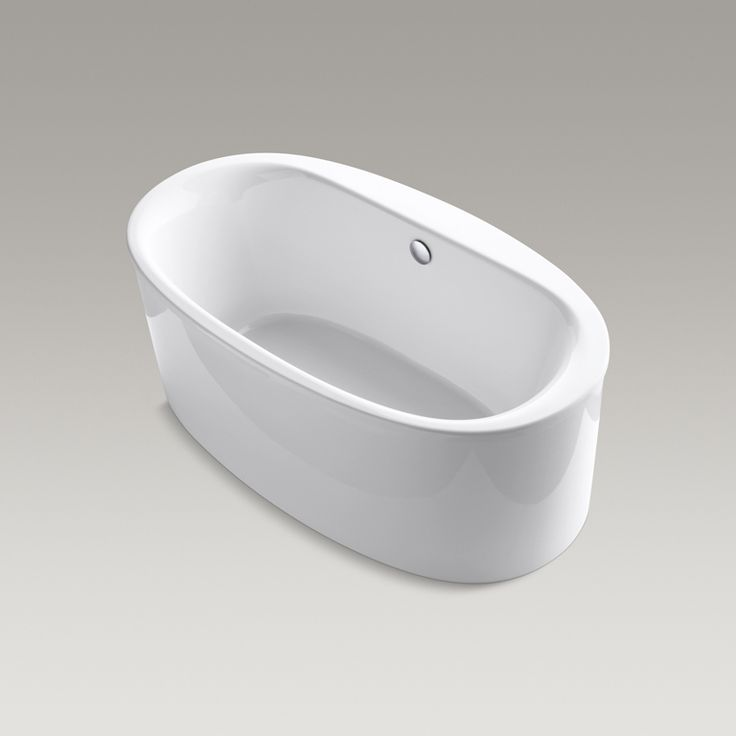 Surround yourself with tranquility and comfort in the KOHLER Sunstruck freestanding bath. Combining luxury with practicality, the oval, ergonomic design conforms to and supports your body as you stretch out and enjoy a deep, relaxing soak.