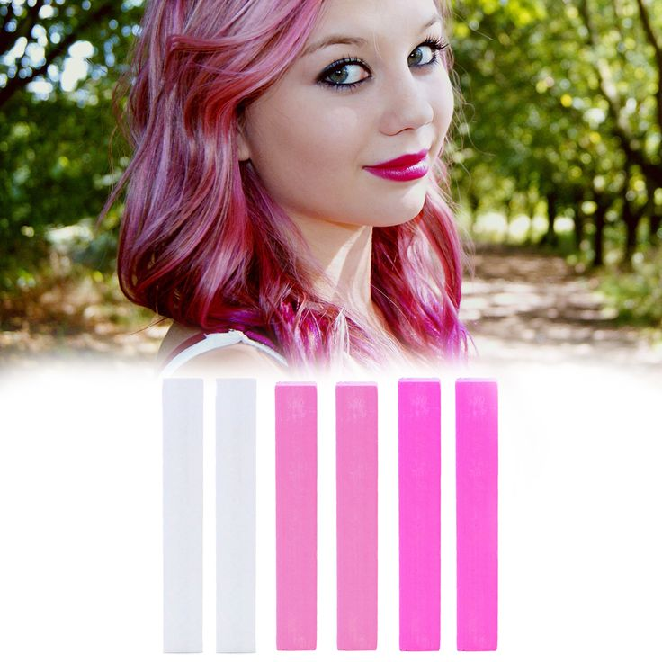 BARBIE Pink Ombre Hair Chalk Set of 6