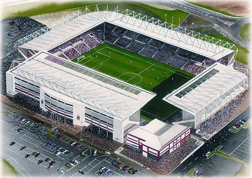 Britannia Stadium in Art, home of Stoke City F.C. Great gifts @ sportsstadiaart.com