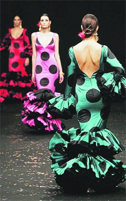 Flamenco Dresses with polka dots...Spain