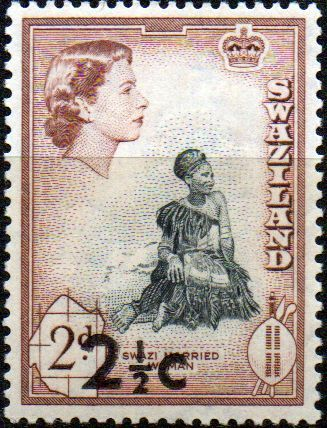 Swaziland 1961 Swazi Married Woman SG 68 Fine Mint SG 68 Scott 70 Other British Commonwealth Empire and Colonial stamps Here