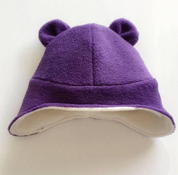 Bear Hat  Bear Fleece Beanie  Bear Beanie  Fleece Animal