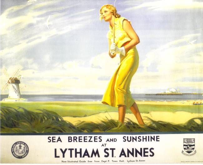 Holiday Lytham St Annes - Rossall Beach Thornton Cleveleys Blackpool Fleetwood Poulton Fylde  Wyre Postcard History