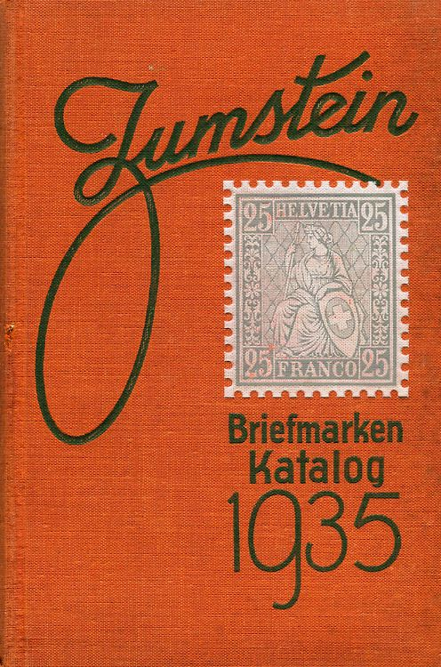 Cover of Zumstein's Briefmarken Katalog 1935.
