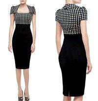 GenderWomen MaterialCotton, Spandex SilhouetteSheath Dresses LengthKnee-Length Sleeve LengthSho