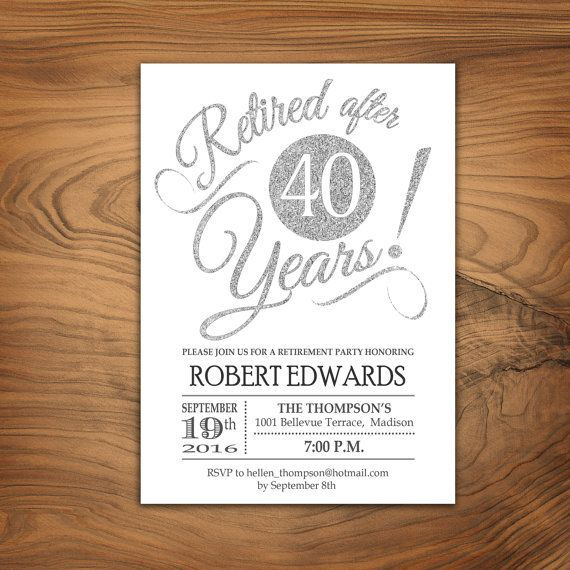 Retirement Party Invitation / Retirement by TheStarDustFactory