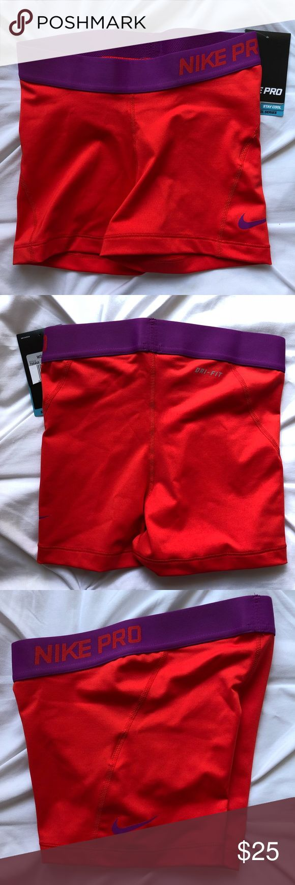 "Women's Nike Pro Compression Shorts Women's Nike Pro Compression Shorts Inseam 2.5"" - 3""  Red with purple color Women's XS  NWT  Retail Price $28  🚫 No trades 📦 Same or next business day shipping!  ✨ Open to reasonable offers 💡 Bundle to save on shipping Nike Shorts"