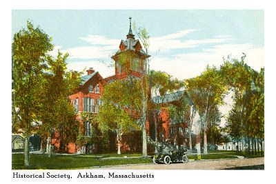 Propnomicon: Arkham Historical Society Postcard