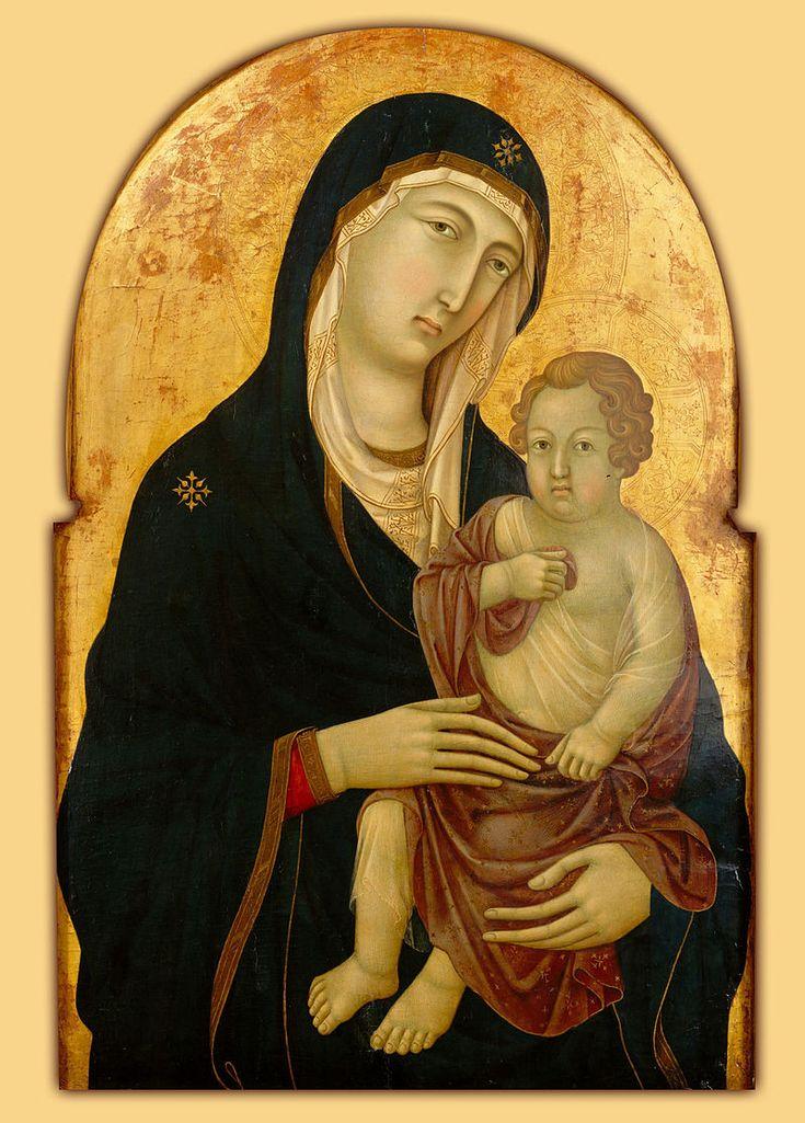 Уголино ди Нерио. Мадонна с младенцем. ок. 1325. Музей Метрополитен, Нью-Йорк.