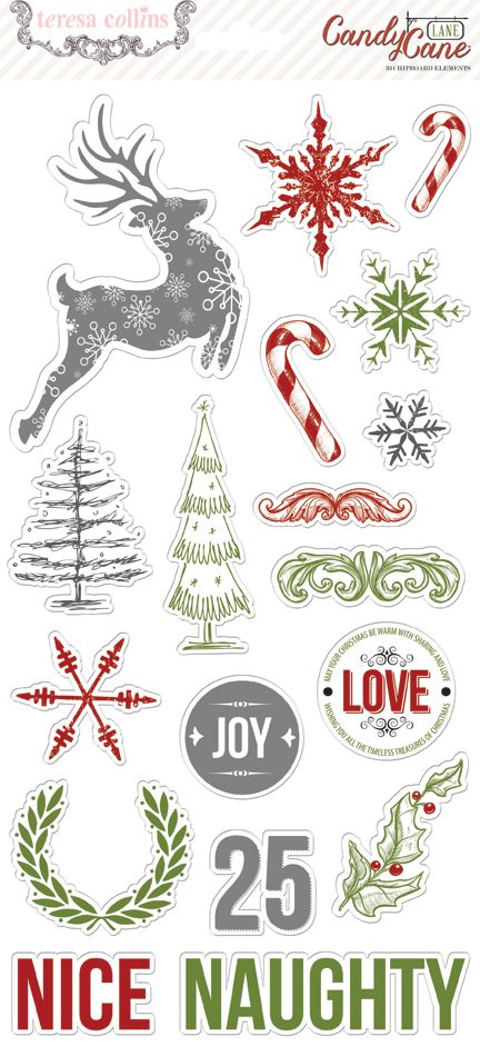 Candy Cane Lane-CCL122-Chipboard #teresacollinsdesigns #summer2014 #candycanelane