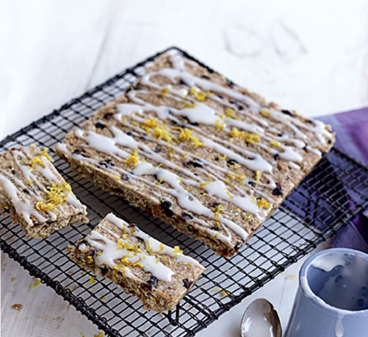Lemon and sultana slices