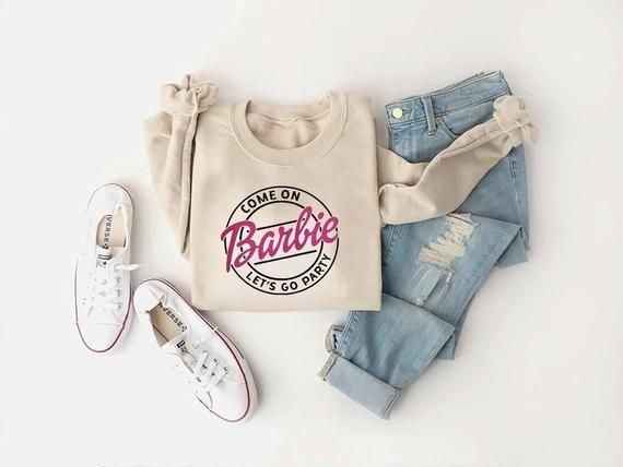 Beautiful Women Sweatshirt Come On Barbie Let S Go Party Crewneck Sweatshirt Lyrics Popular Song For Aqua 90s The Bachelorette Party In 2021 Sweatshirts Women Sweatshirts Come On Barbie Lets Go Party