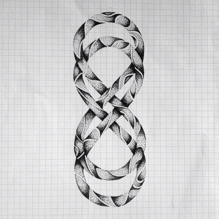 Double Eternal Love Symbol Dotwork by Priscilla Lopez