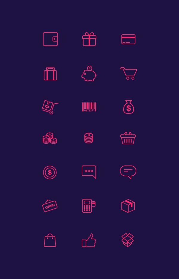 Free 21 E-Commerce Icons