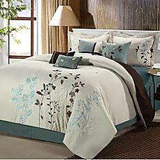 image of Chic Home Brooke 12-Piece Comforter Set in Beige