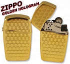 Zippo Lighters BLU Golden Hologram Butane Lighter 30033