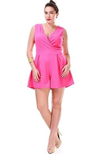 fcbd7c45dcc Nyteez Women s Plus Size Pleated Romper Short Jumpsuit