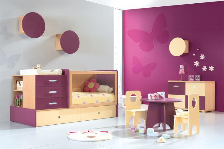 decoracion habitaciones para bebes con muebles convertibles