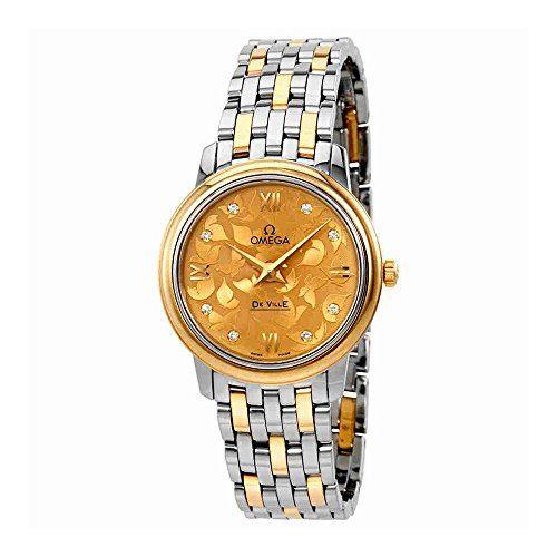 Omega De Ville Prestige Butterfly Champagne Diamond Dial Ladies Watch 424. 20. 27. 60. 58. 002