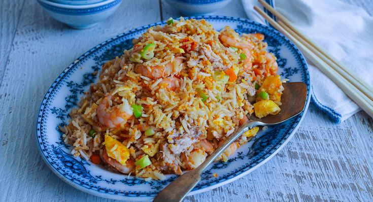 My Mother's Seafood Fried Rice for Chinese New Year
