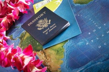 This is a cool picture of a passport!
