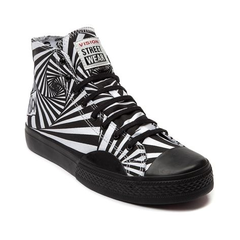 Mens Vision Street Wear Canvas Hi Skate Shoe.