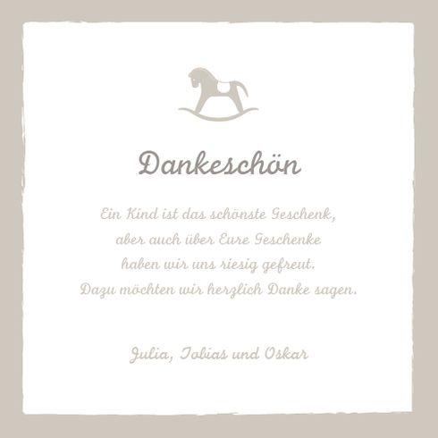 Danksagung Kleines Pferdchen by Tomoë für Rosemood.de #Danksagung #Pferd