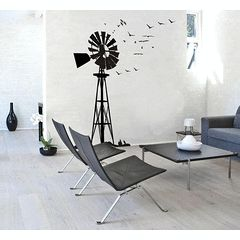 Giant windpump with birds vinyl wall decal sticker tattoo home decorating South African