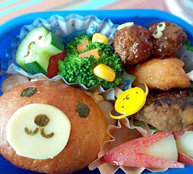 2回目(4月)息子のお弁当はクマのサンドイッチで♪ - 4件のもぐもぐ - 幼稚園お弁当(年少) by TSUKI