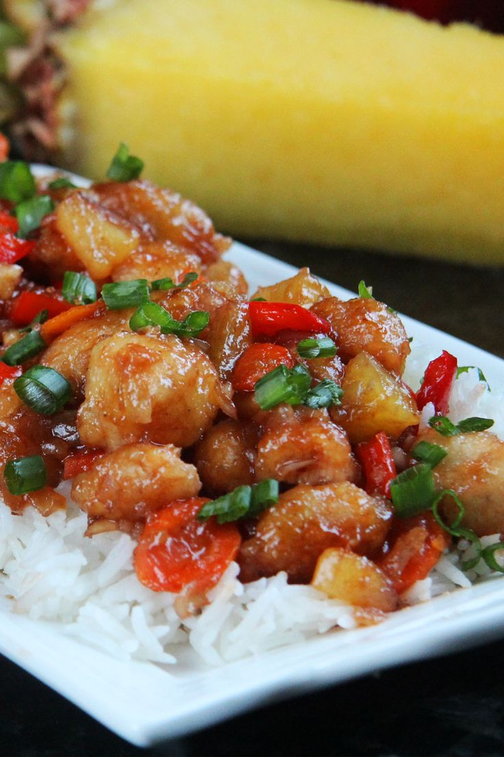Baked Sweet and Sour Chicken, Pineapple Carrots and Bell Peppers