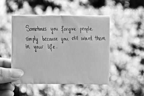 forgiving and forgetting.