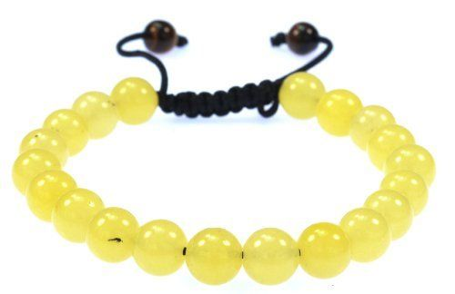 Yellow Jade Gemstone Bracelet - Good for Luck and Healing - 91031 DAH JEWELRY. $7.99. one size fits all; adjustable pull-tied. jade brings good luck,Good for  Meditation. each stone is 8mm. promotes healing and positive energy. natural jade stones. Save 60% Off!