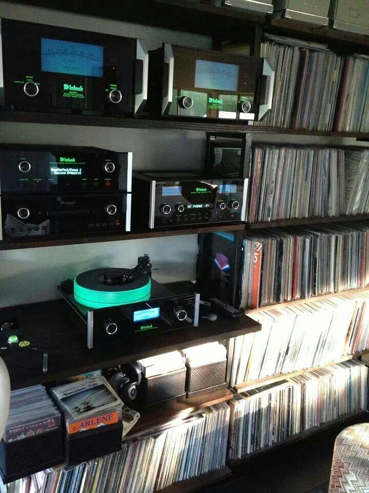 Mac Wall Mounted With Media Storage Audio Room Audiophile Audio Equipment
