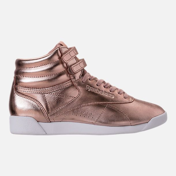 Right view of Women's Reebok Freestyle Hi Metallic Casual