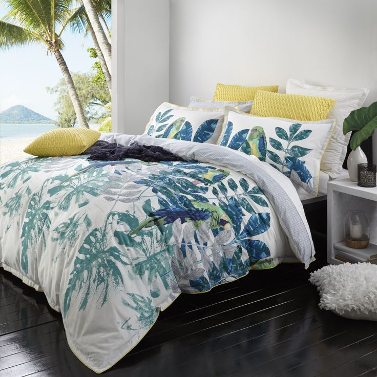 Daintree Fern by Logan & Mason. Available in queen and king quilt cover sets