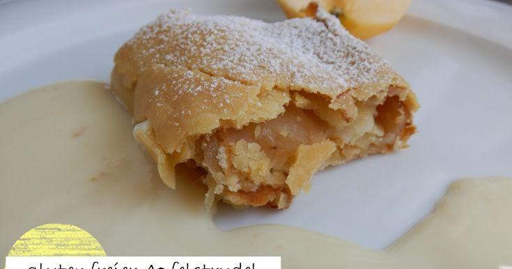 glutenfreier Apfelstrudel, gluten free apple strudel