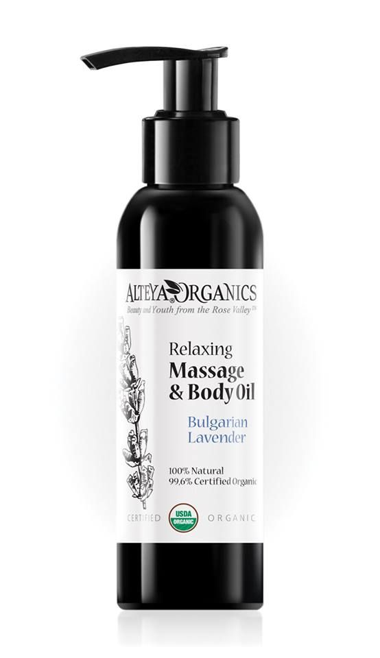 Organic Lavender massage oil for relaxation