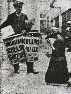 The news of Collins's death was a traumatic shock. During the Anglo-#Irish War (1919-1921) he led the IRA and was a member of the unofficial Irish government.